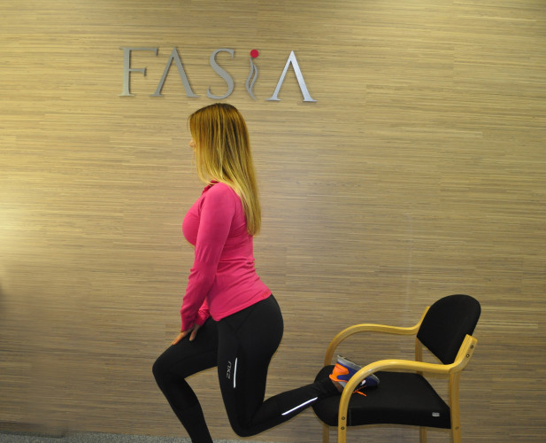 Tøyning av fremside lår, FASiA osteopati